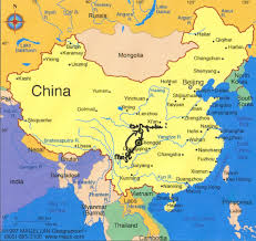 Map Of China And India by Map Of China Heifer 12 X 12