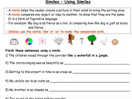 similes using similies by nayanmaya teaching resources tes