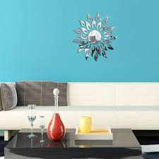 wall decor sun flower mirror effect ring wall stickers modern wall decor sun flower mirror effect ring wall stickers modern design 3d interior decoration living room wall watches in wall stickers from home garden on