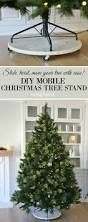 diy mobile christmas tree stand sand and sisal