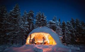 sleep under the northern lights aurora borealis inhabitat green design innovation architecture