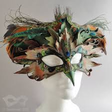 venetian bird mask leather bird mask and crown by beadmask on deviantart