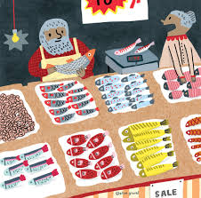 elise gravel illustration u2022 fish u2022 market u2022 art u2022 drawing