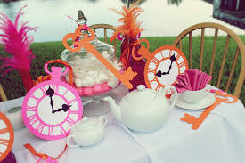 Alice In Wonderland Theme Party Decorations Alice In Wonderland Party Ideas Pink Orange Flickr