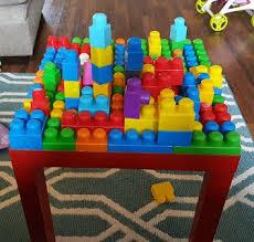 my first mega bloks table diy mega blocks play table always mommy