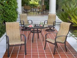 Sling Swivel Rocker Patio Chairs by Woodard Fremont Sling Aluminum High Back Swivel Rocker 2p0488