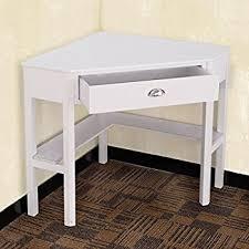 Corner Computer Desk White Tangkula Corner Computer Desk With Drawer Wood Laptop