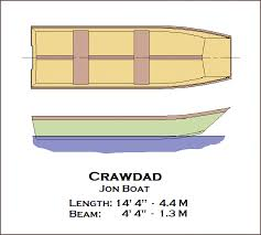 Free Wooden Boat Plans Download by Spira International Inc Crawdad Jon Boat
