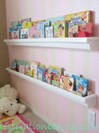 restoration beauty rain gutter bookshelves
