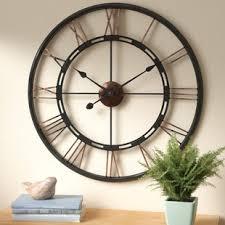 large wall clock oversized wall clocks you ll love wayfair