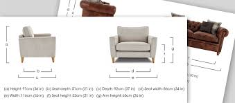 sofa seat depth measurement your furniture measuring guide furniture village