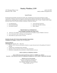 Case Worker Resume Sample by Resume For Case Worker Casa 022415