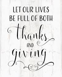 let our lives be of thanks and giving canvas wall decor