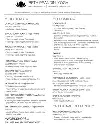 Examples Of Teacher Resumes by Sample Resume For Yoga Teacher Augustais