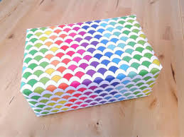 rainbow mermaid scales wrapping paper sheets gift wrap
