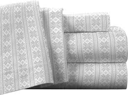California King Flannel Sheets Pointehaven Fair Isle 100 Cotton Flannel Sheet Set U0026 Reviews