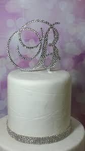 g cake topper swarovski cake topper initial monogram wedding rhinestone