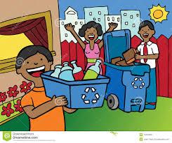 imagenes animadas sobre el reciclaje reciclaje de la familia ilustración del vector ilustración de