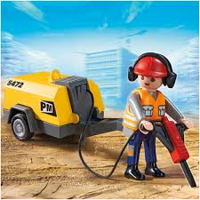 playmobil construction worker with jack hammer 5472 4 80