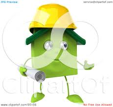 royalty free rf clipart illustration of a 3d green clay home