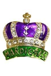 mardi gras crown mardi gras pins and brooches