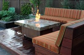 Outdoor Furniture With Fire Pit Table by Balboa Stone Top Fire Pit Table Cooke Furniture