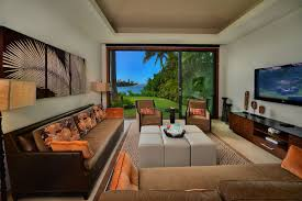 architecture hawaii home designs with sofa in cream leather