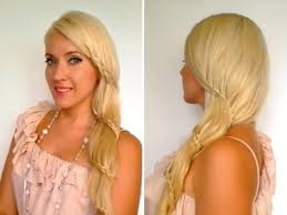 Temporary Hair Extensions For Wedding Side Swept Carousel Braid Valentines Tutorial Romantic Prom