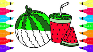 how to draw watermelon coloring pages fruit coloring book for