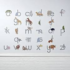 Alphabet Wall Decals For Nursery Nursery Wall Decals Crate And Barrel
