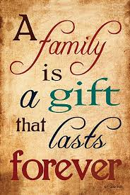 a family is a gift that lasts forever block mounted
