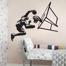 sport de chambre acheter basketball dunk wall décoration murale décoration