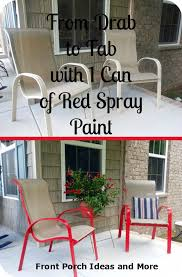 Best Way To Paint Metal Patio Furniture Spray Paint Chair Ideas Porch Furniture Front Porches And Spray