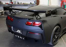 corvette wing c7 corvette gtc 500 adjustable wing with spoiler delete