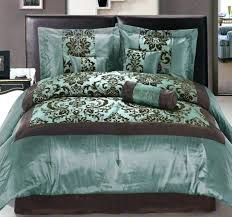 Blue And Brown Bed Sets Comforter Sets Brown Teal Ofor Me