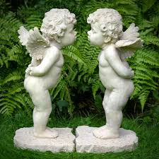 cherub statues pair of cherub garden statues garden