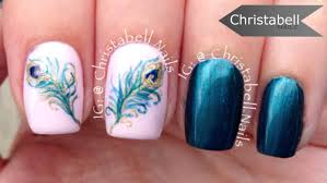 nail art 34 surprising feather nail art picture design feather