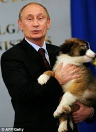 Obama Dog Meme - kremlin mocks obama s masculinity by tweeting picture of him holding