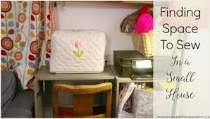 finding space to sew in a small house tea and a sewing machine