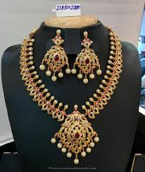 necklace red stone images Gold plated red stone necklace south india jewels jpg