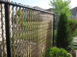 decorating amazing chain link fence slats for help beautify