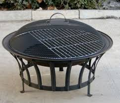 Firepit Bbq Stromboli 690mm Steel Pit Bowl With Barbecue Bbq Grill Mesh