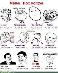 Famous Internet Memes - internet memes meme horoscope joker forever alone emotionless