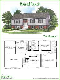 raised ranch floor plans raised ranch signature building systems custom modular home