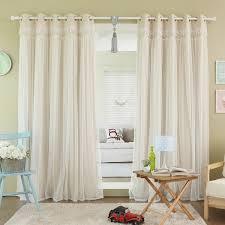 Grommet Top Blackout Curtains Home Lace Overlay Blackout Grommet Top Curtain Panel Pair