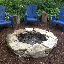 modest stacked stone fire pit photography landscape with stacked