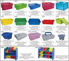 4 Tier Toy Organizer With Bins Plastic Storage Basket With Handle Kids Toy Storage Box Easy