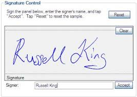 creating a user control to capture signatures on a tablet pc
