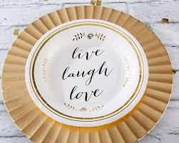 paper plates live laugh paper plates set of 8 kate aspen