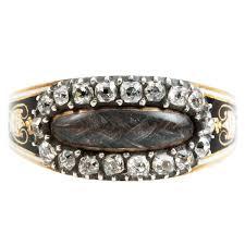 mourning ring georgian mine cut diamond mourning ring mourning ring